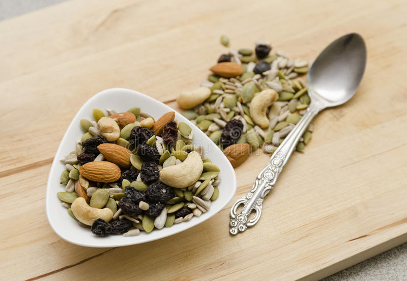 Nuts and Seeds royalty free stock photos