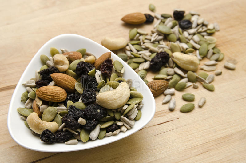 Nuts and Seeds stock image