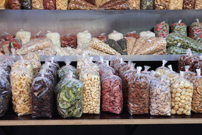 nuts torkade frukter arkivfoto