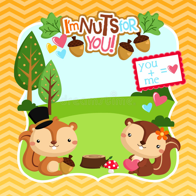 Nuts for you stock illustration