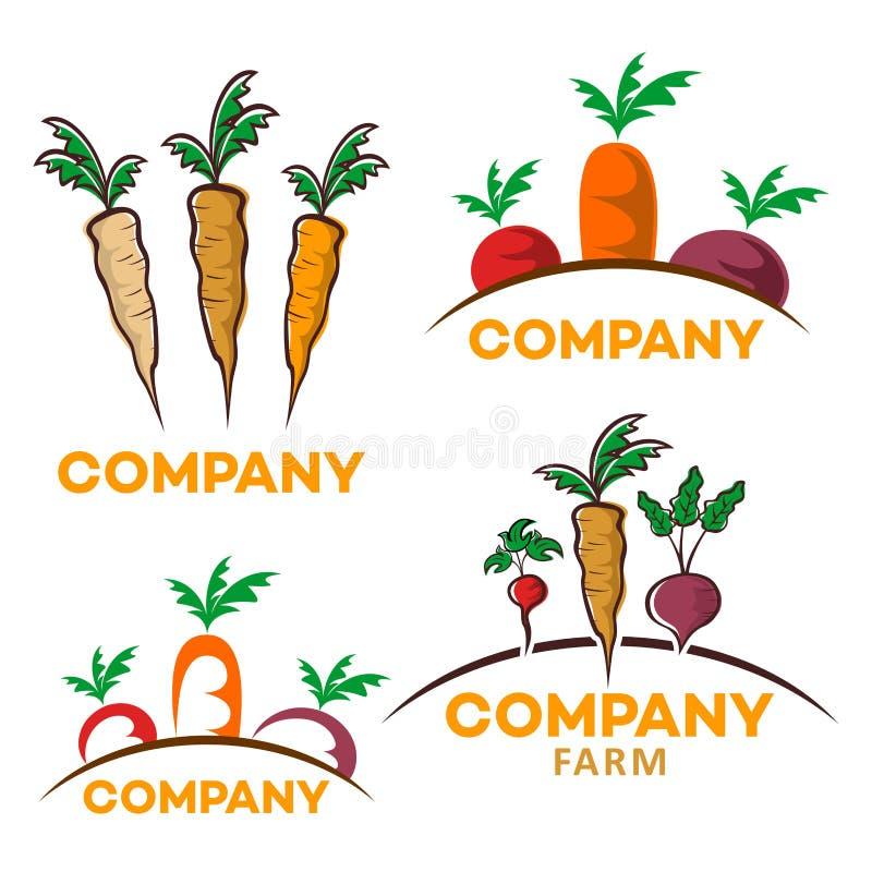 Nuttig groentenembleem Vector illustratie vector illustratie