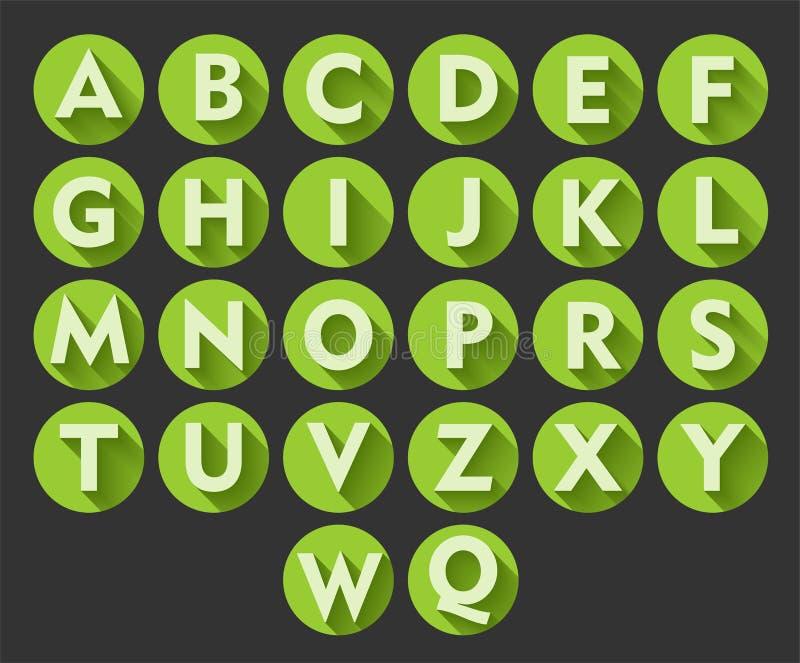 Nuttige alfabetpictogrammen vector illustratie