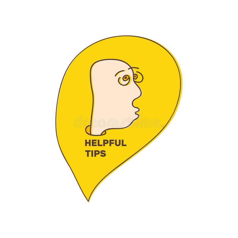 Nuttige Uiteinden Getrokken mens uit de vrije hand Vectorillustratie met krabbelstijl Creatief ontwerp voor avatar, mededeling en royalty-vrije illustratie