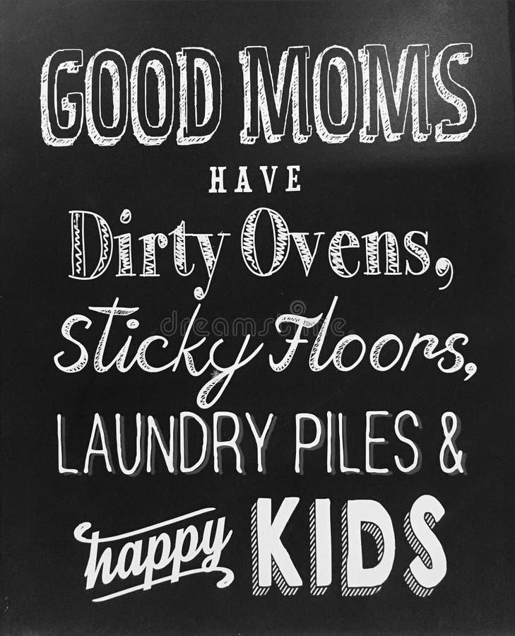 Nuttige uiteinden over goede moeder stock afbeeldingen