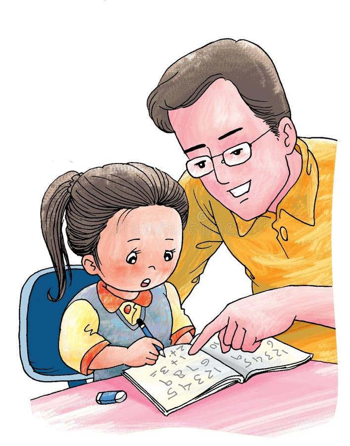 Nuttige vader stock illustratie