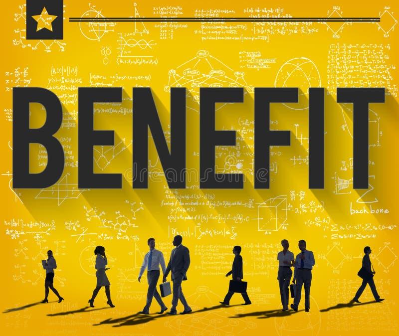 Nutzen-Einkommens-Gewinn-Vorteils-Wohlfahrts-Konzept lizenzfreie abbildung