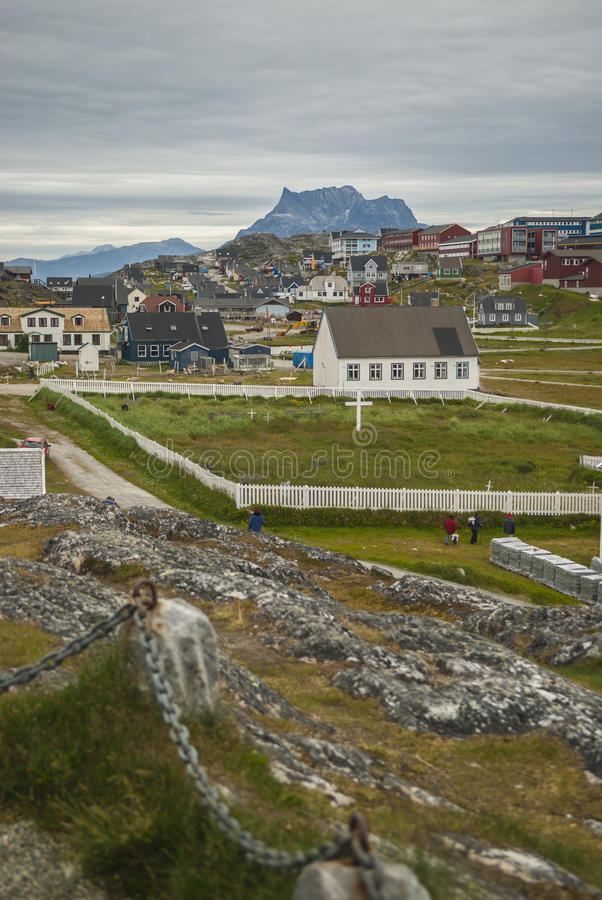 Nuuk, capital de Gronelândia imagem de stock