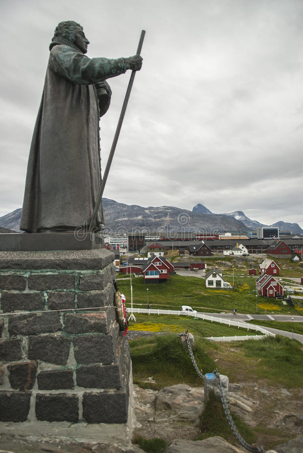 Nuuk, Capital of Greenland. Buildings of Nuuk, the Capital of Greenland royalty free stock photography