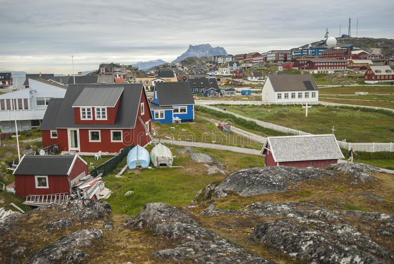 Nuuk, Capital of Greenland. Buildings of Nuuk, the Capital of Greenland royalty free stock photo