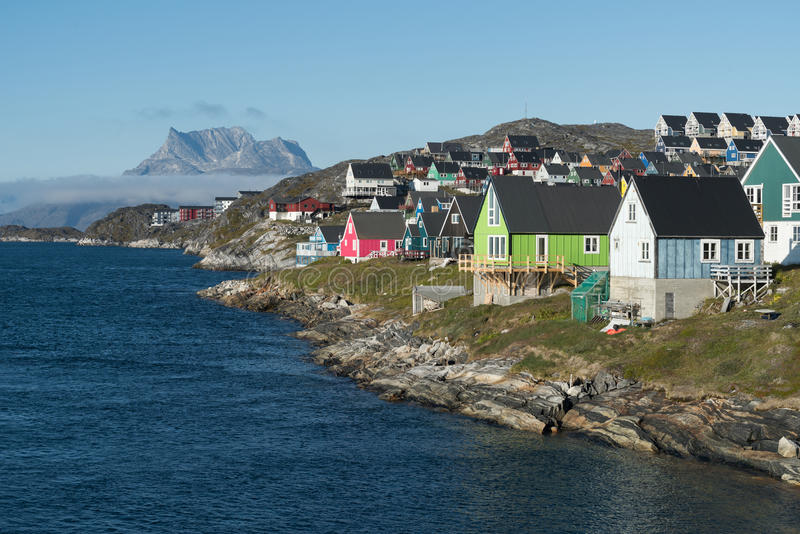 Nuuk, the capital of Greenland royalty free stock photo