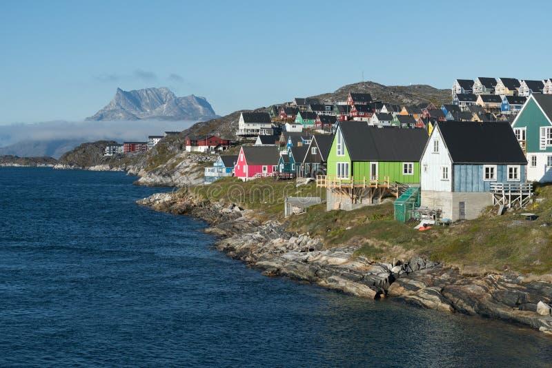 Nuuk, the capital of Greenland. Nuuk, the charming capital of Greenland royalty free stock photo