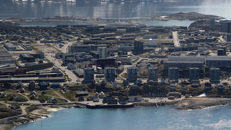 Nuuk city center royalty free stock photography