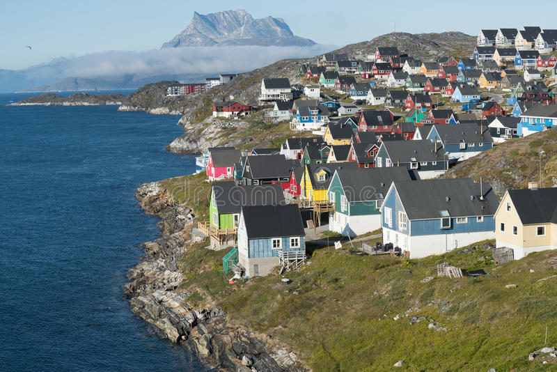 Nuuk, Greenland. Nuuk, the charming capital of Greenland royalty free stock images