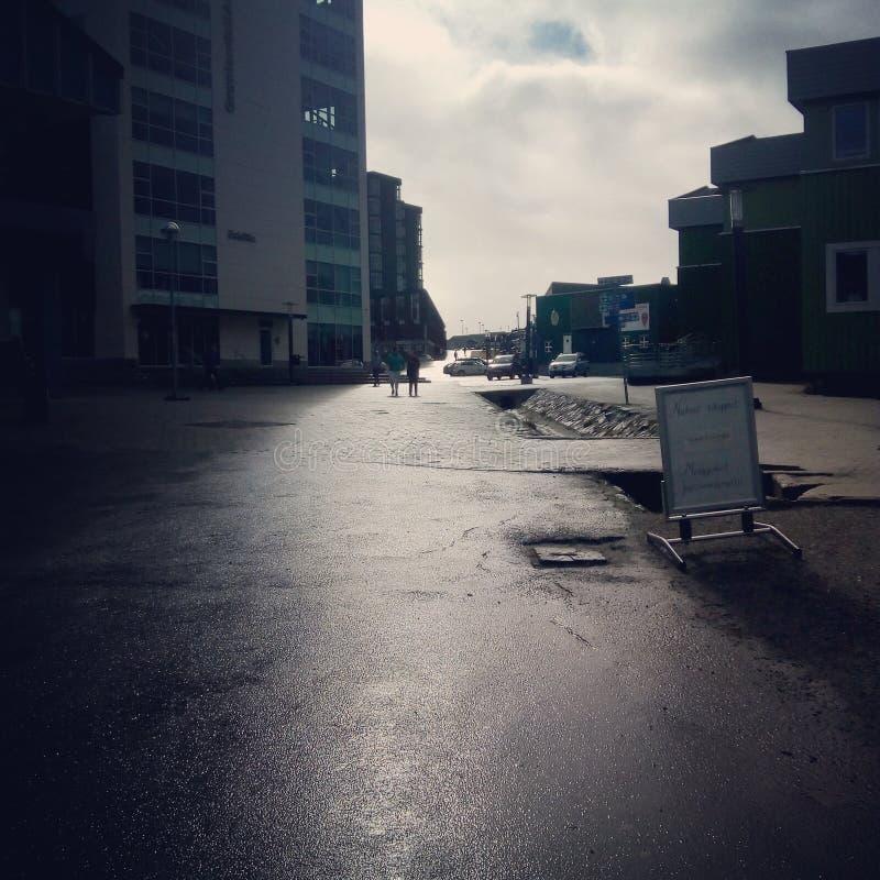Nuuk Greenland city stock image