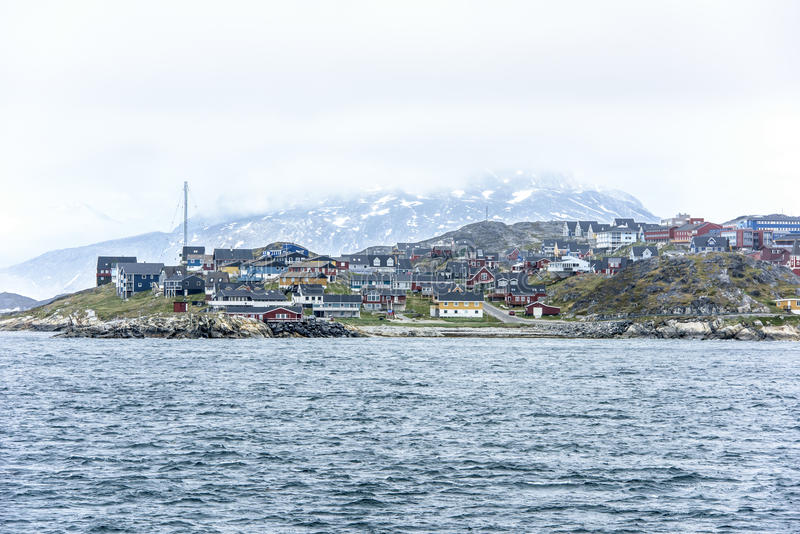 Nuuk Greenland. Old part of Nuuk - capital of Greenland stock photography