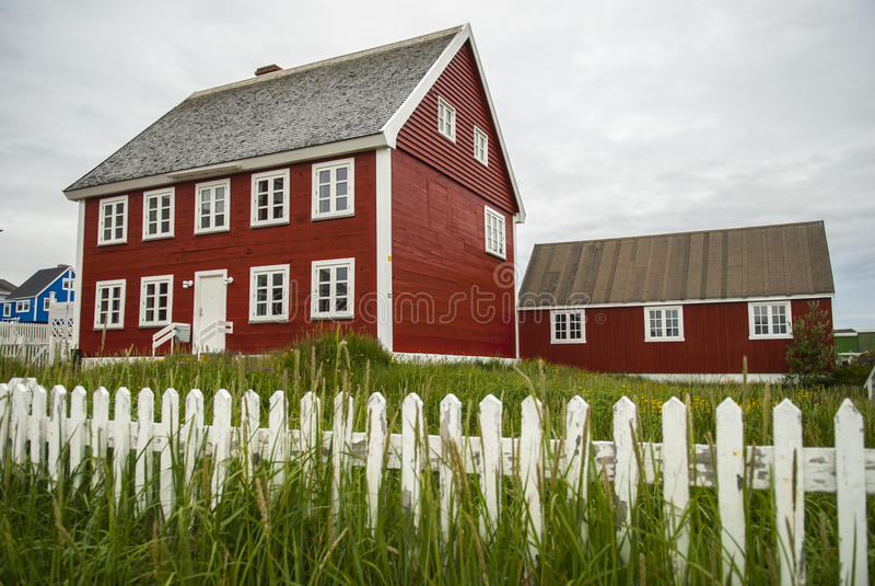 Nuuk, Kapitaal van Groenland stock afbeelding