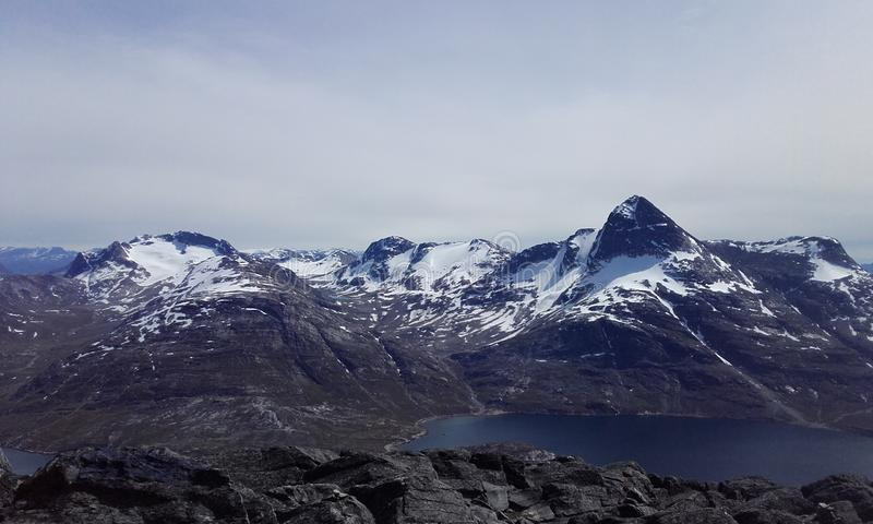 Nuuk mountain nature Greenland beautifull stock image