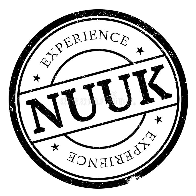 Nuuk stamp rubber grunge stock photo