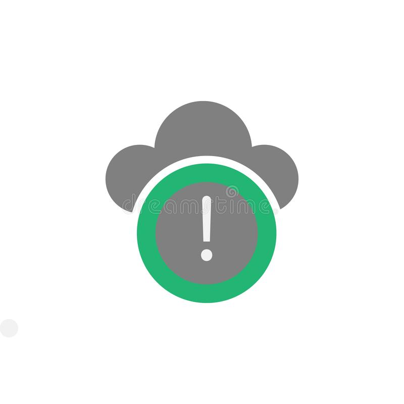 Nuvem, ícone do vírus Elemento do ícone do Cyber e da segurança para apps móveis do conceito e da Web A nuvem detalhada, ícone do ilustração do vetor