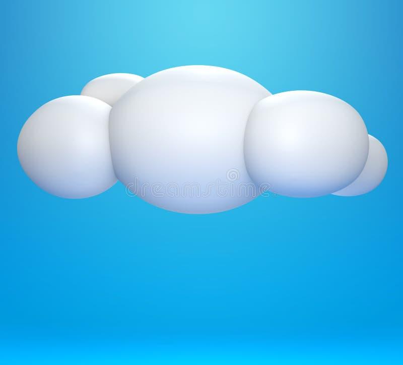 Download Nuvem 3D ilustração stock. Ilustração de infrastructure - 26519705