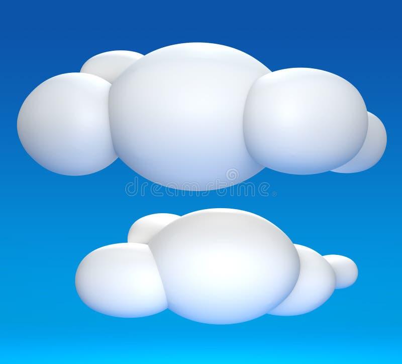 Download Nuvem 3D ilustração stock. Ilustração de galeria, projeto - 26519723