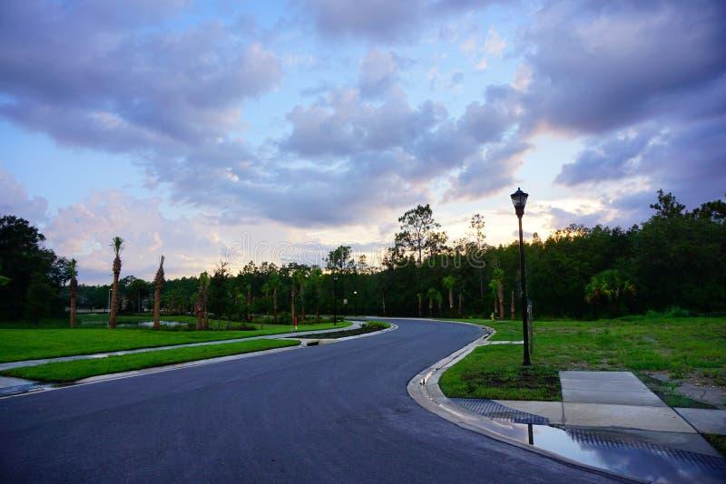 Nuvem ajustada do sol de Florida fotografia de stock royalty free