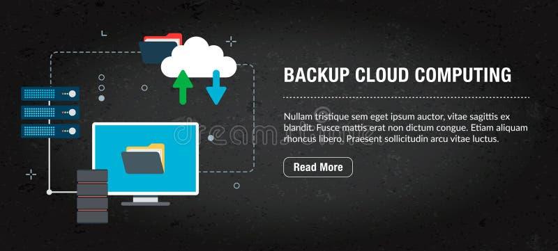 Nuvem alternativa que computa, Internet da bandeira com ícones no vetor imagens de stock