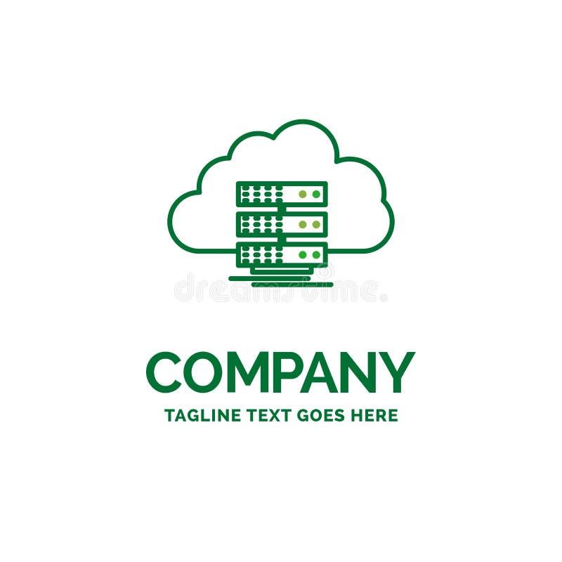 nuvem, armazenamento, computando, dados, templat liso do logotipo do negócio do fluxo ilustração stock