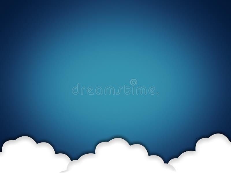 A nuvem baseou o Internet ilustração royalty free