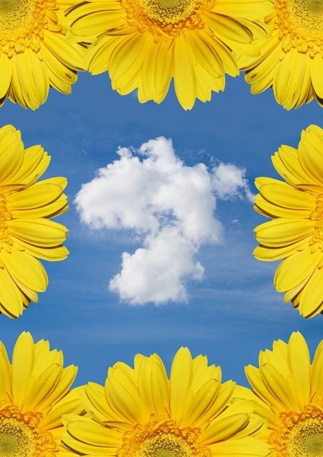 Nuvem bonita com flores fotos de stock royalty free