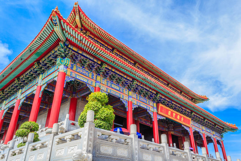 Nuvem bonita do templo da porcelana de Tailândia imagem de stock royalty free