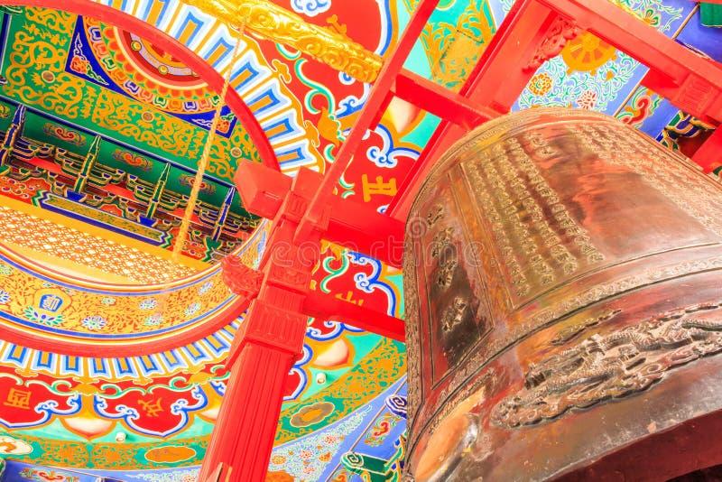 Nuvem bonita do templo da porcelana de Tailândia imagens de stock royalty free