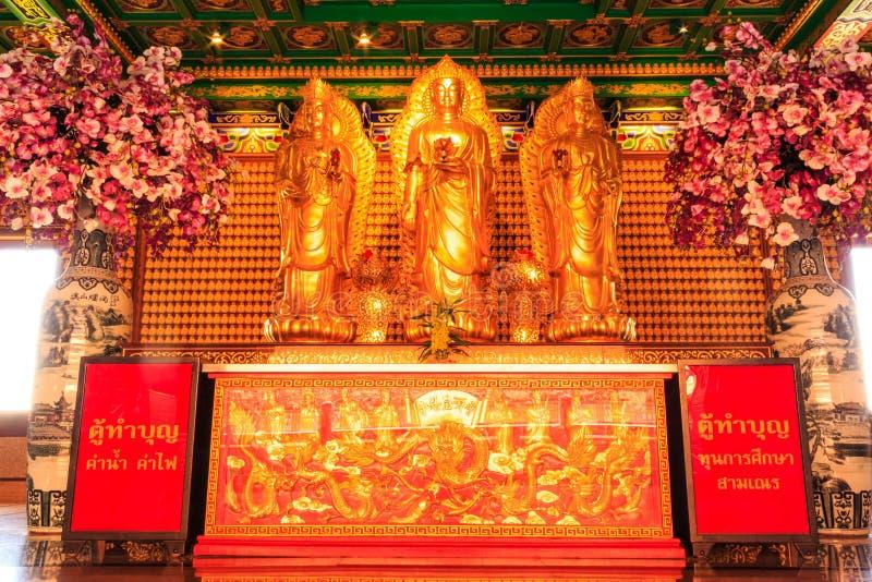 Nuvem bonita do templo da porcelana de Tailândia fotos de stock