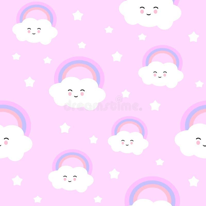 Nuvem bonito ilustração stock