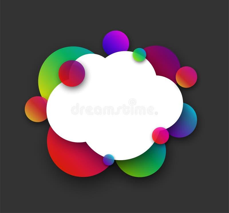 Nuvem branca com bolhas da cor no cinza ilustração royalty free