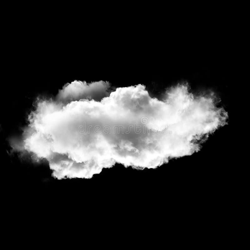 Nuvem branca isolada sobre o fundo preto, ilustração 3D fotos de stock royalty free