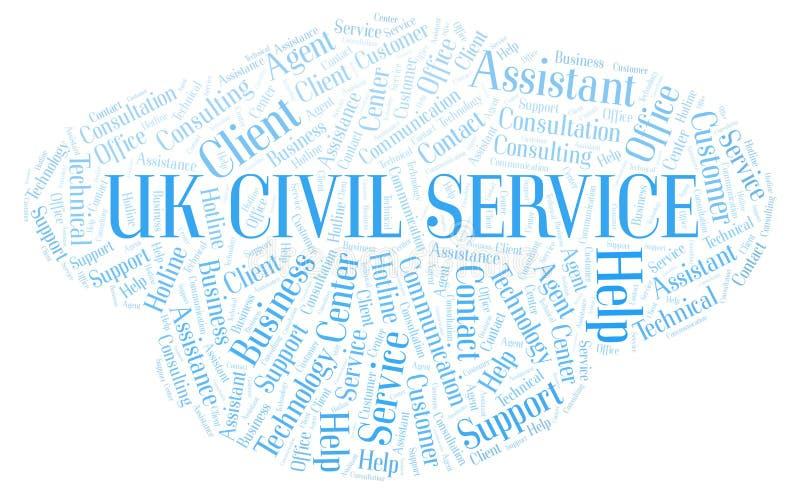 Nuvem britânica da palavra de serviço civil ilustração royalty free