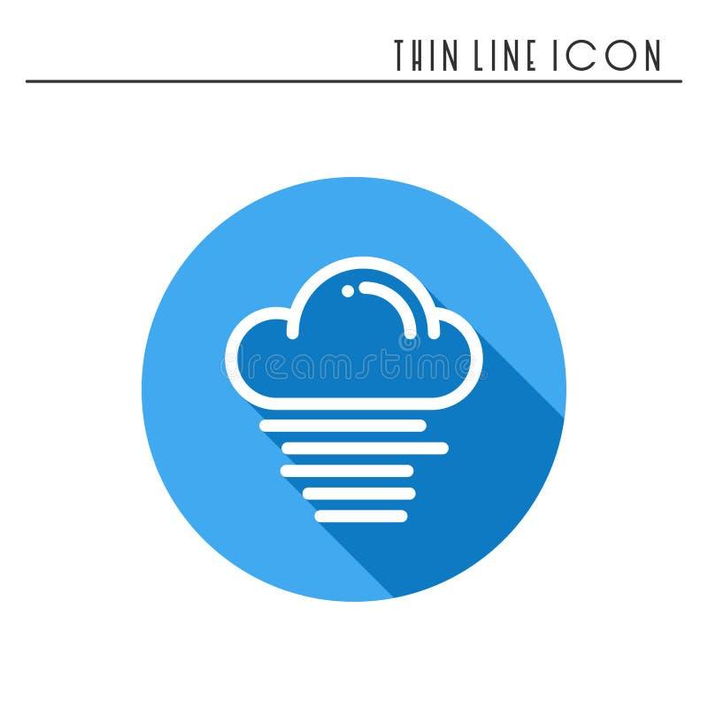 Nuvem, céu, névoa, linha ícone simples da névoa Símbolos de tempo meteorologia Elemento do projeto da previsão Molde para o app m ilustração stock