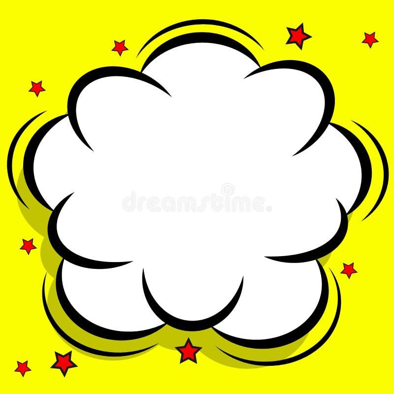 Nuvem cômica retro do projeto Bolhas instantâneas do discurso da explosão ilustração royalty free