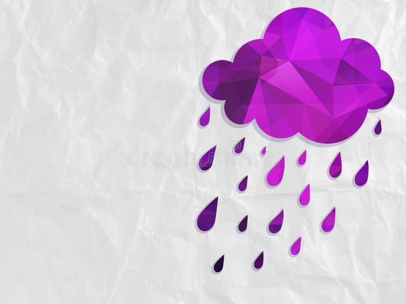 Nuvem com chuva ilustração do vetor