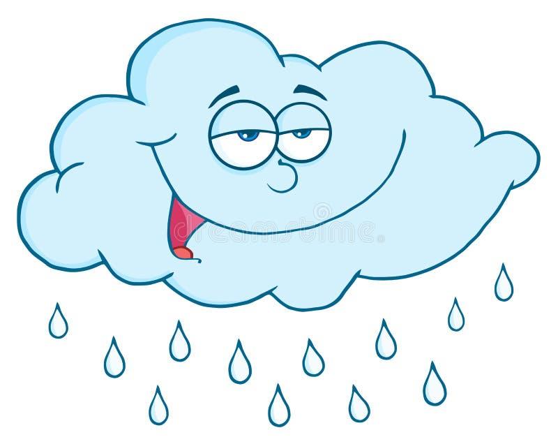 Nuvem com pingos de chuva ilustração royalty free