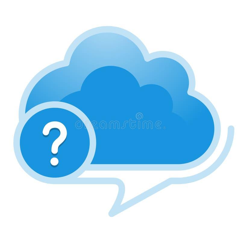 Nuvem, computando, referência; informação; preste serviços de manutenção à ilustração ilustração royalty free