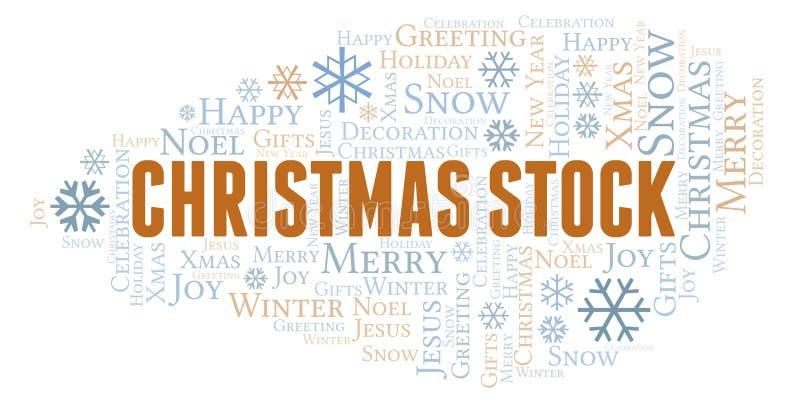 Nuvem conservada em estoque da palavra do Natal ilustração do vetor