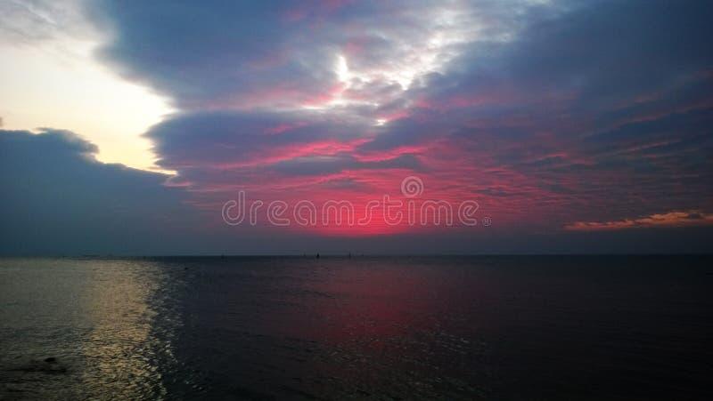Nuvem crepuscular fotografia de stock