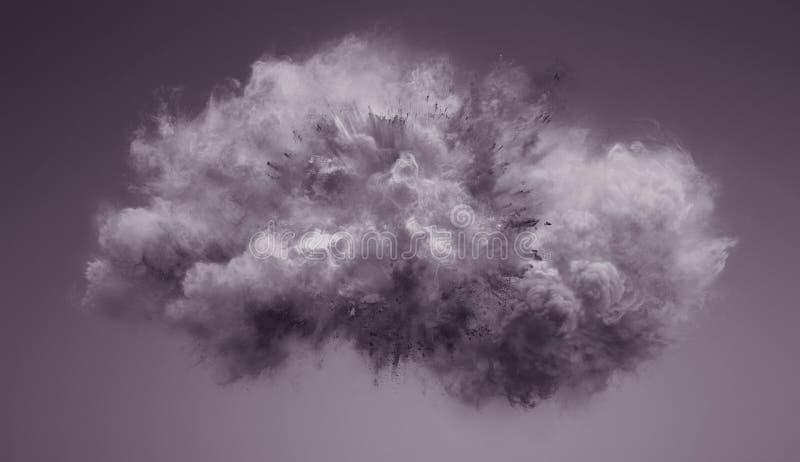 Nuvem da explosão do pó ilustração do vetor