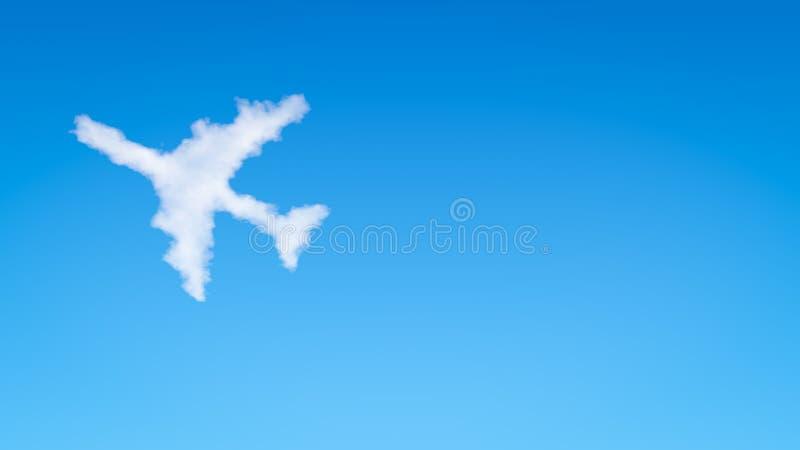 Nuvem da forma do avião ilustração stock