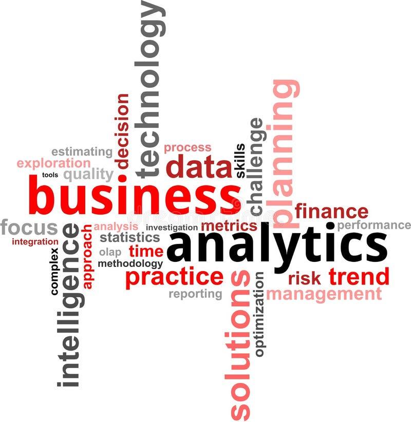Nuvem da palavra - analytics do negócio ilustração do vetor