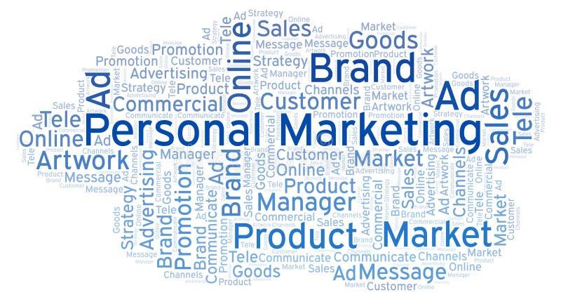 Nuvem da palavra com mercado pessoal do texto ilustração royalty free