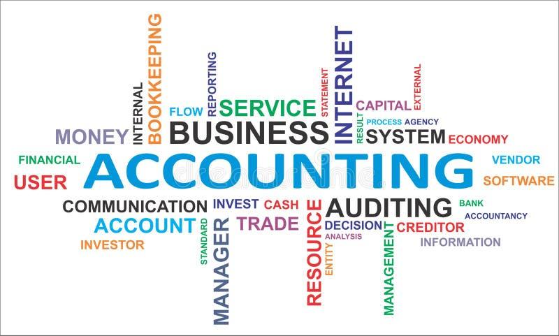 Nuvem da palavra - contabilidade ilustração stock