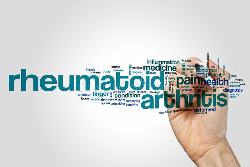 Nuvem da palavra da artrite reumatoide foto de stock